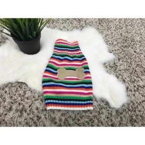 Dog Pet Clothing Sweater Knit Striped Sz XS